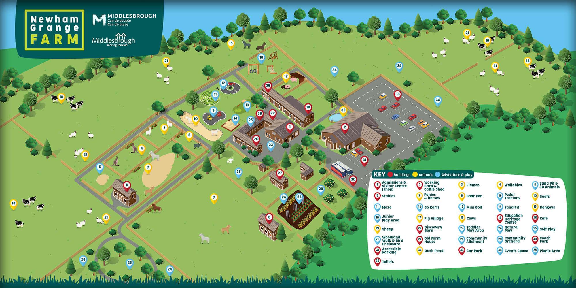 Newham Grange Farm Map